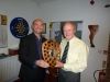 Peter Jones collecting the award for Clubman of the Year
