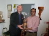 Jaesh Naik's dad collects the Pratt Cup on his behalf
