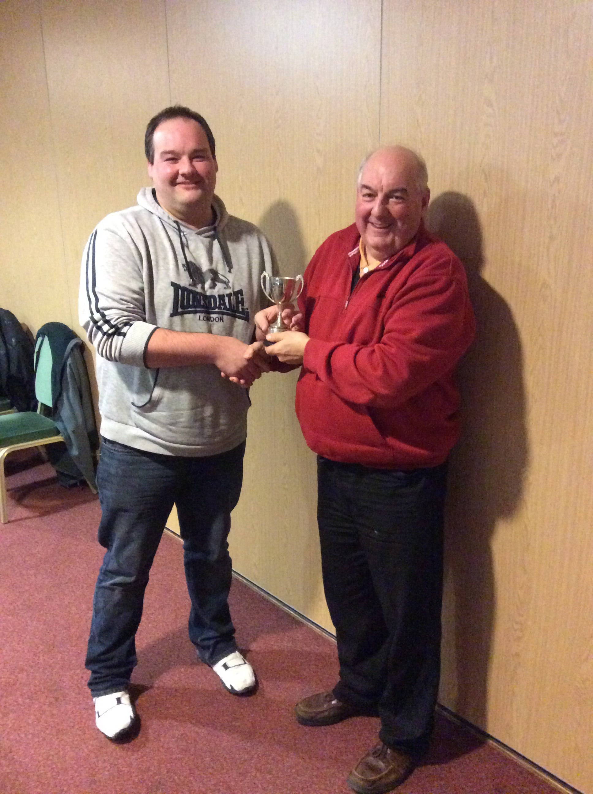 Player of the Year - Dave Edmunds  received the award from the Club Chairman (his dad!)